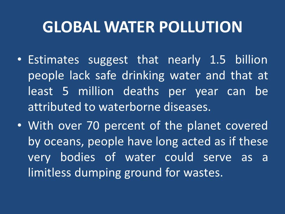 GLOBAL WATER POLLUTION