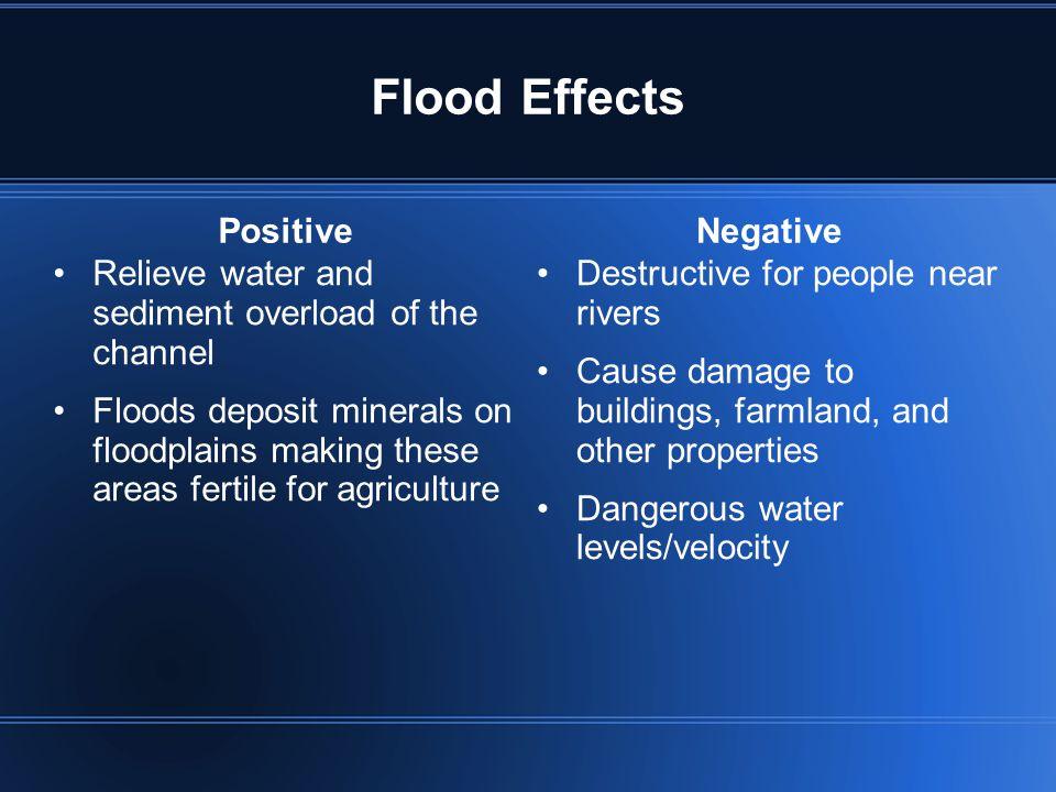 Flood Effects Positive Negative
