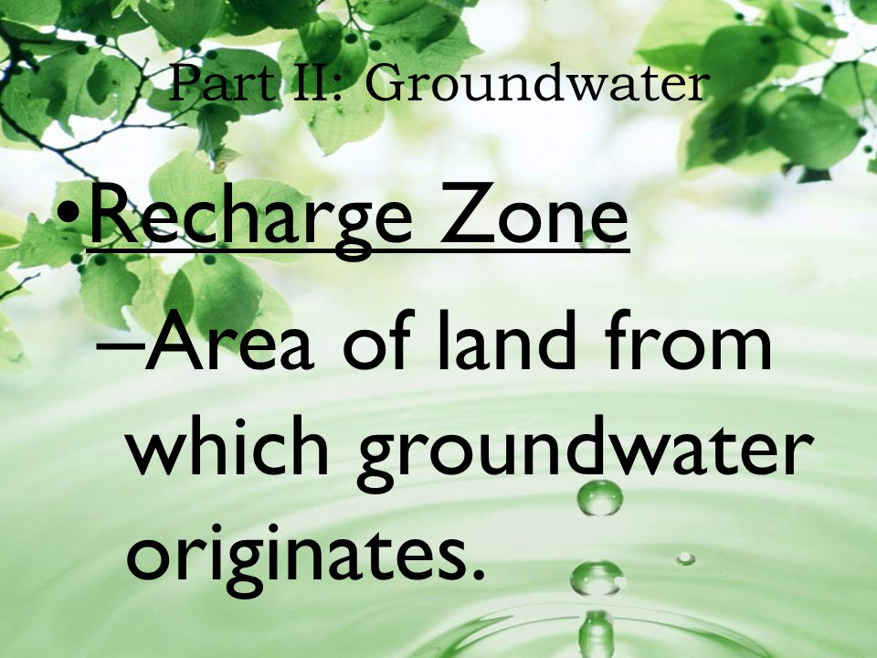 Area of land from which groundwater originates.