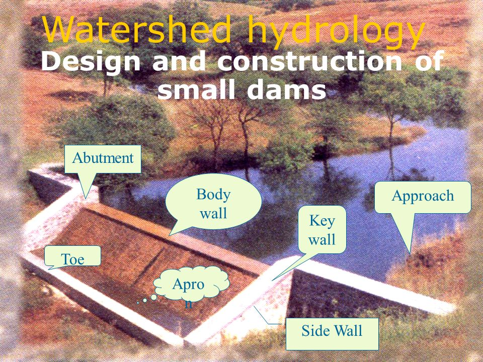 Design and construction of small dams