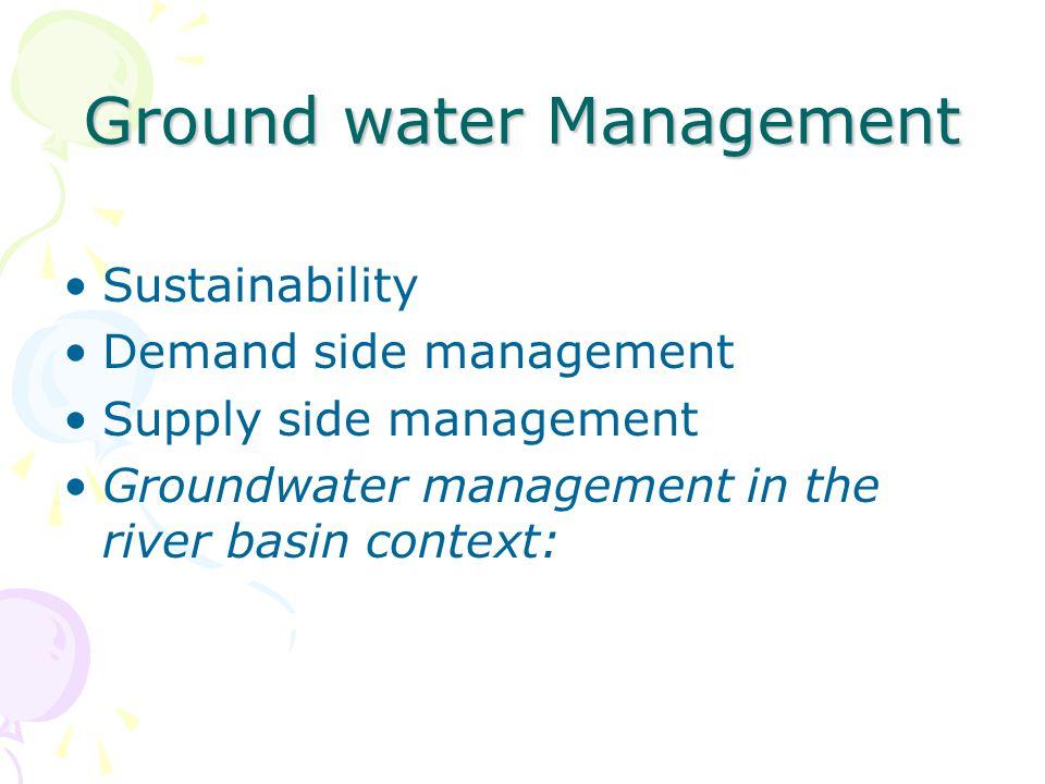 Ground water Management