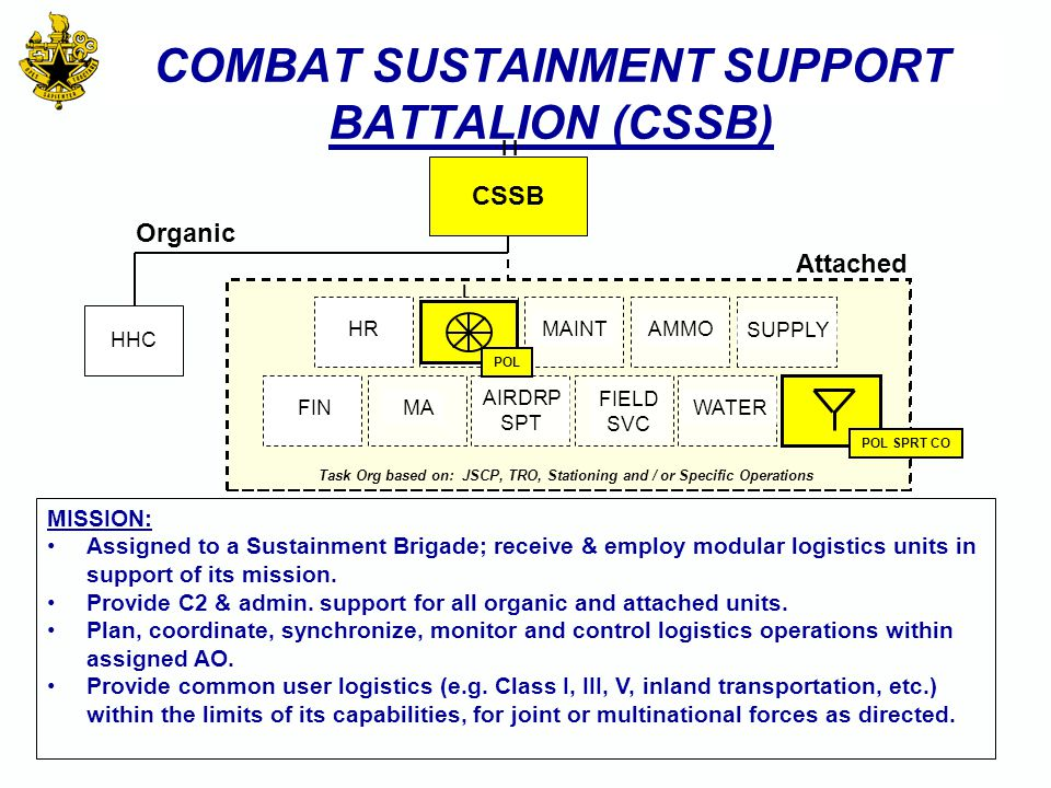 COMBAT SUSTAINMENT SUPPORT BATTALION (CSSB)