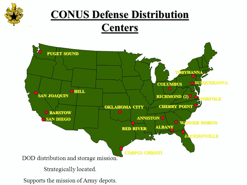 CONUS Defense Distribution Centers