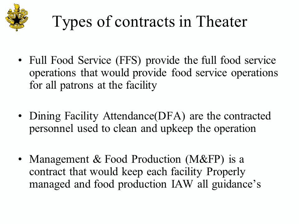 Types of contracts in Theater