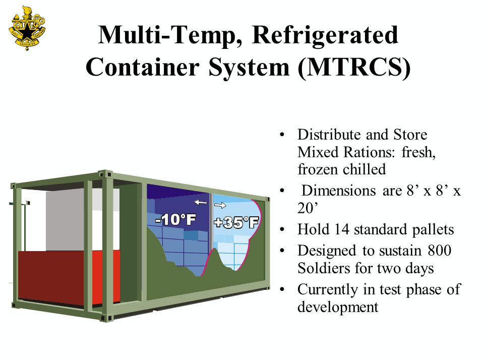 Multi-Temp, Refrigerated Container System (MTRCS)
