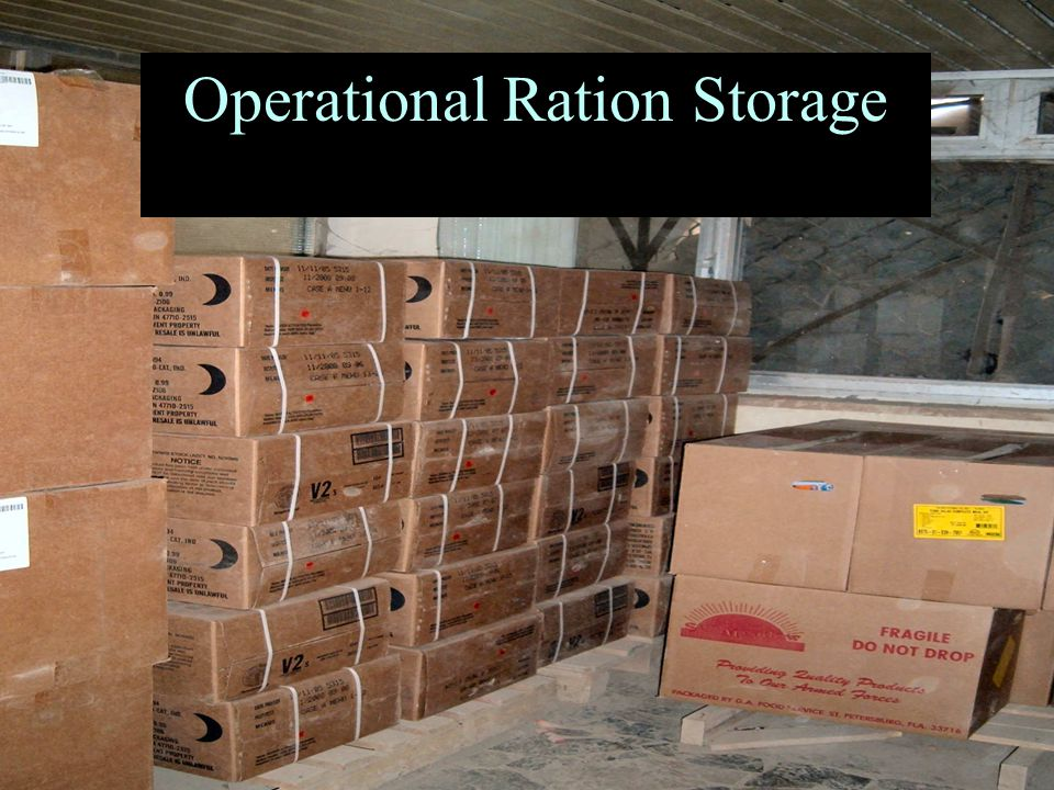 Operational Ration Storage