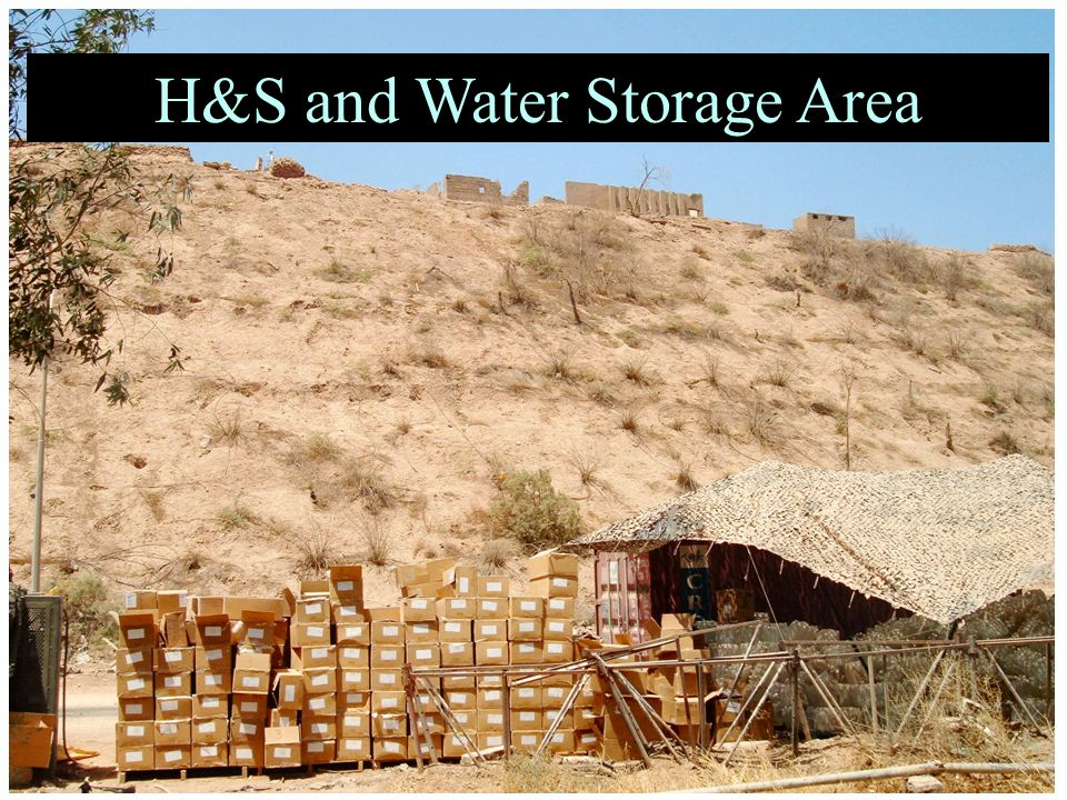 H&S and Water Storage Area