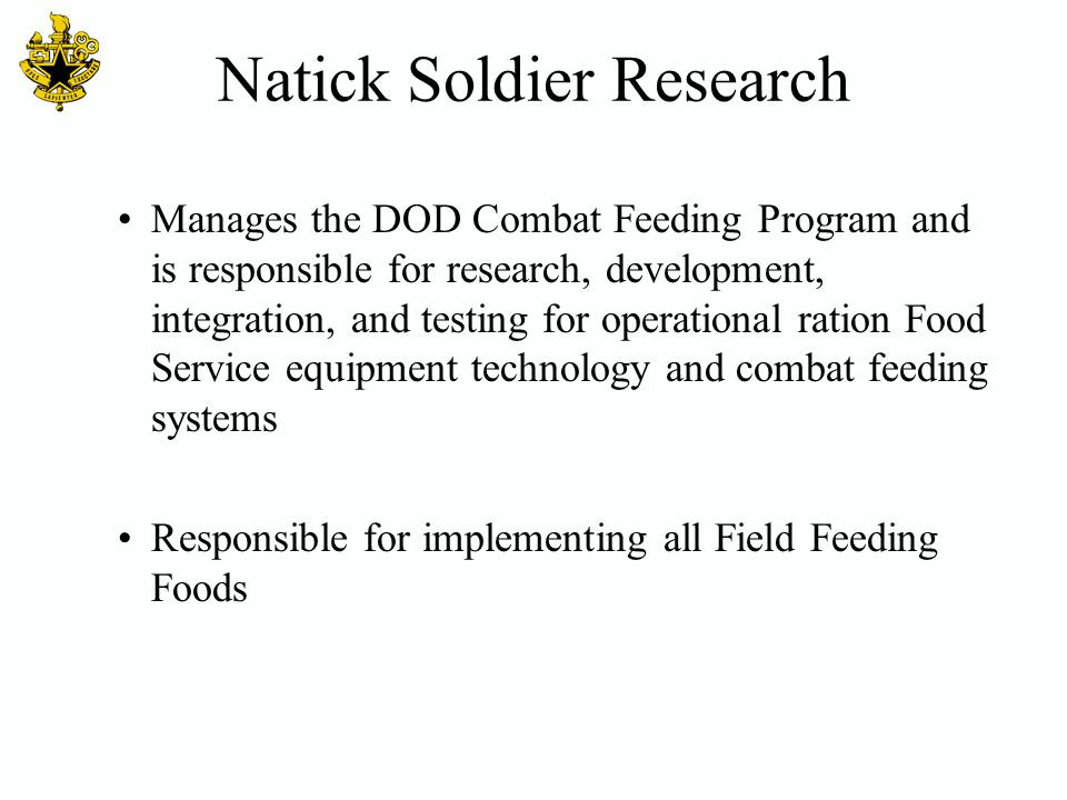 Natick Soldier Research