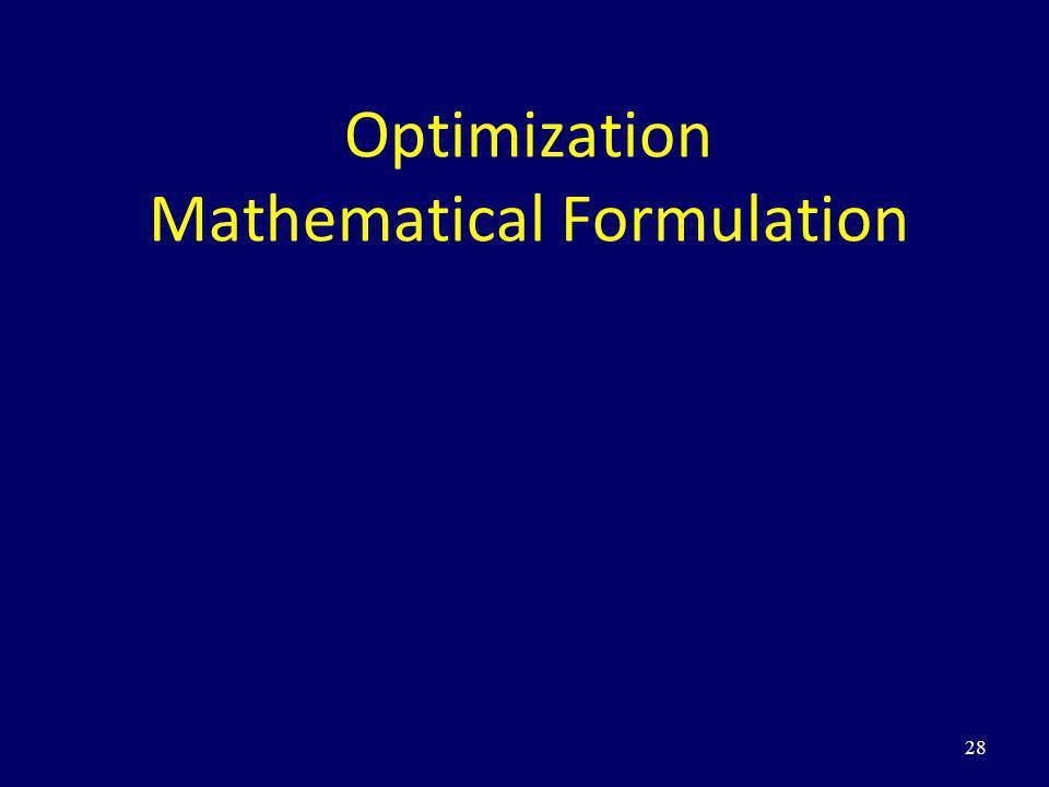 Optimization Mathematical Formulation