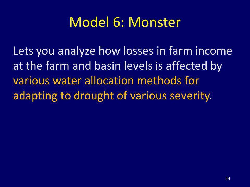 Model 6: Monster