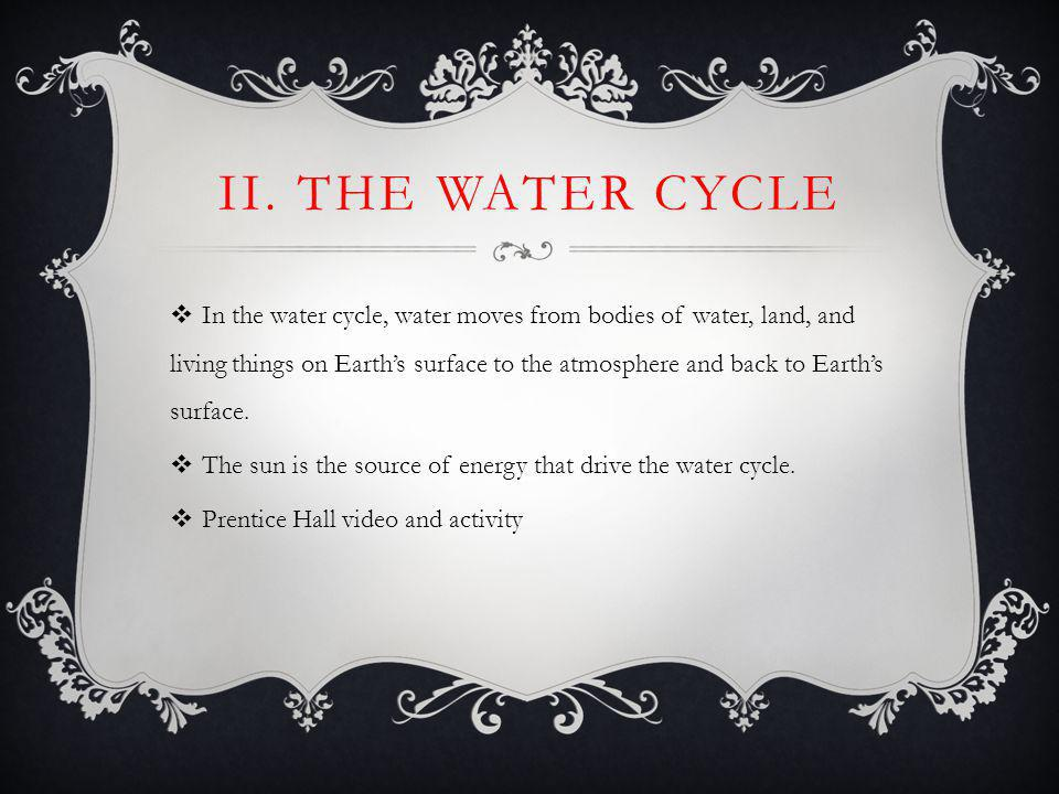 II. The Water Cycle