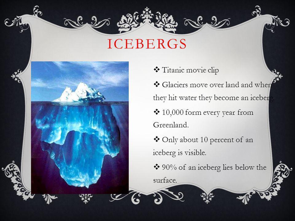 Icebergs Titanic movie clip