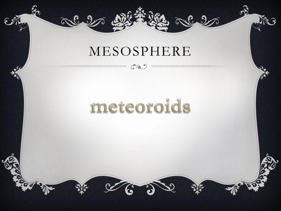 mesosphere meteoroids