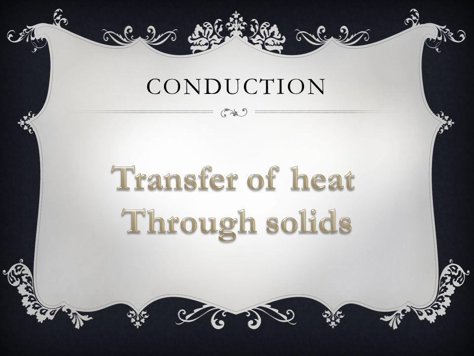 Transfer of heat Through solids