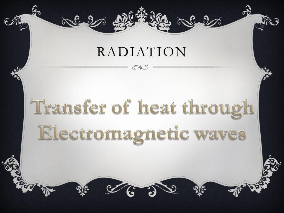 Transfer of heat through Electromagnetic waves