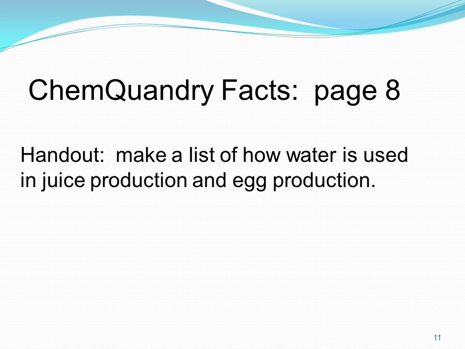 ChemQuandry Facts: page 8