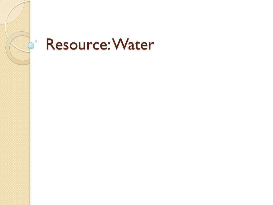 Resource: Water