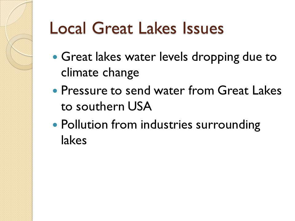 Local Great Lakes Issues