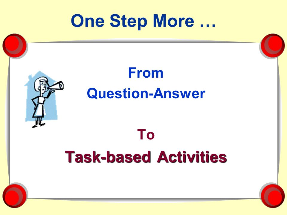 Task-based Activities