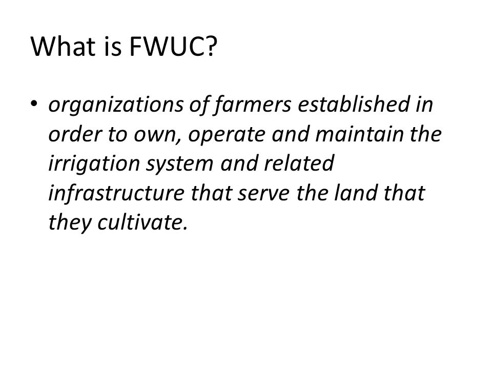 What is FWUC