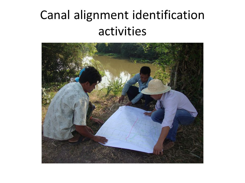 Canal alignment identification activities