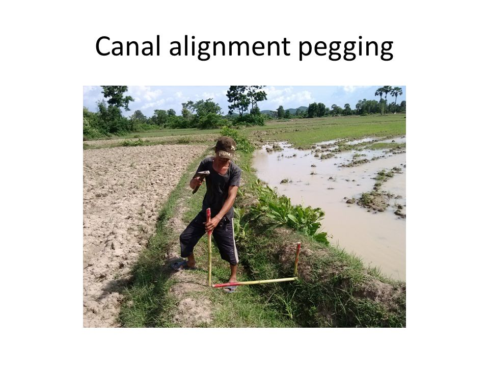 Canal alignment pegging