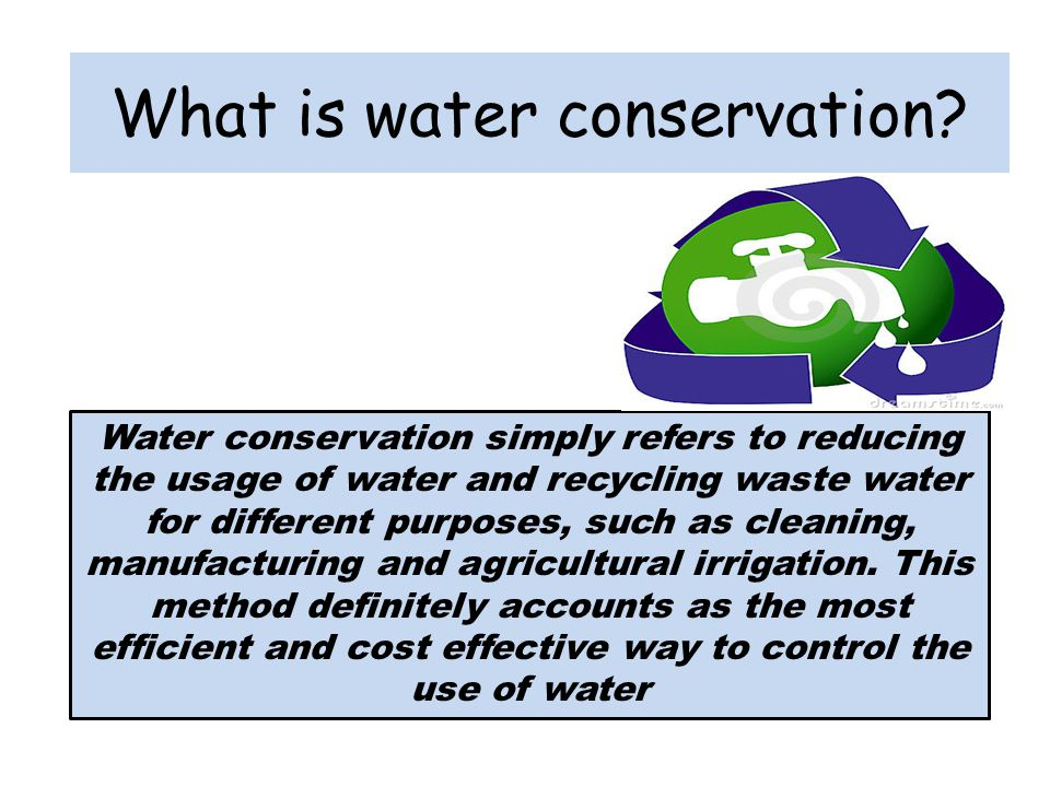 What is water conservation