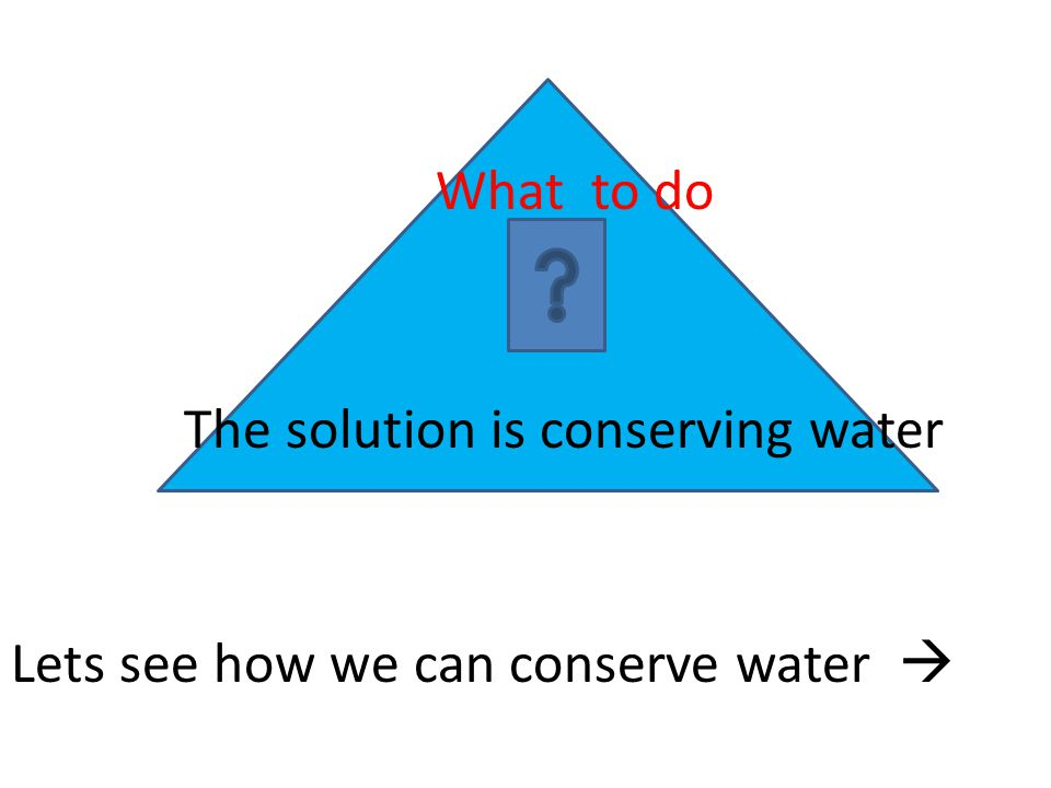 Lets see how we can conserve water 