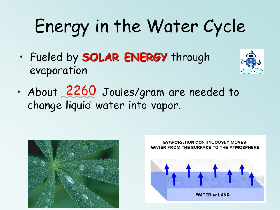Energy in the Water Cycle