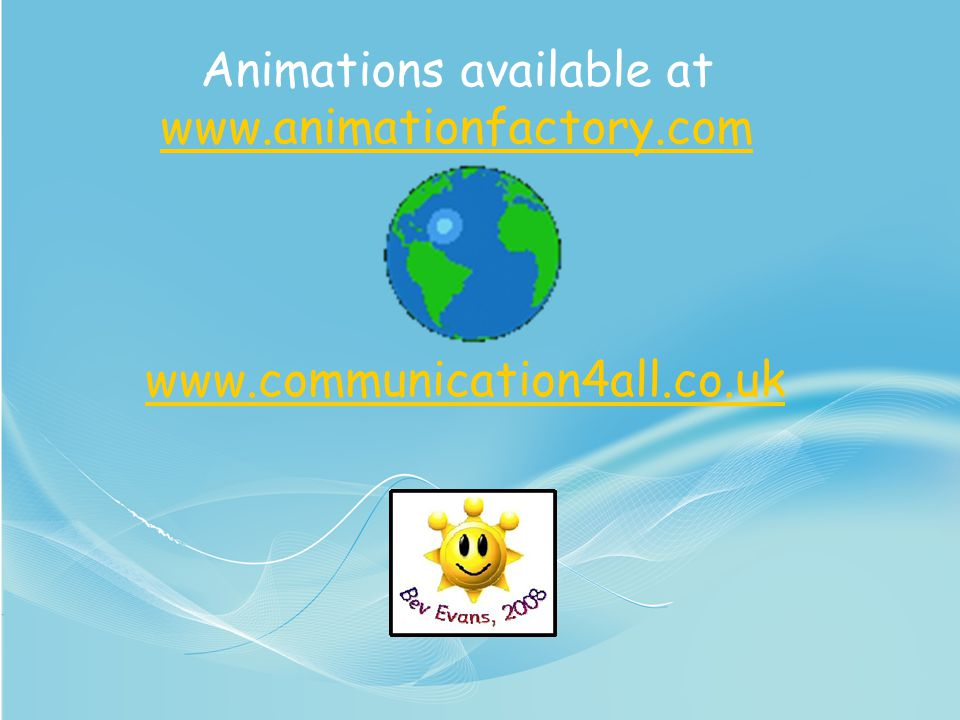 Animations available at www.animationfactory.com
