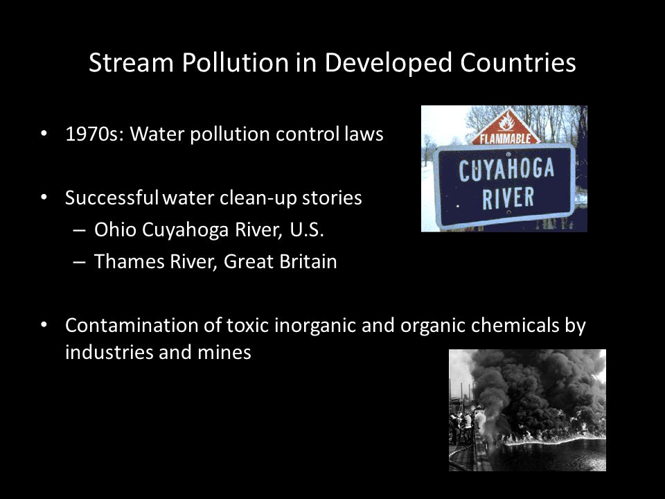 Stream Pollution in Developed Countries