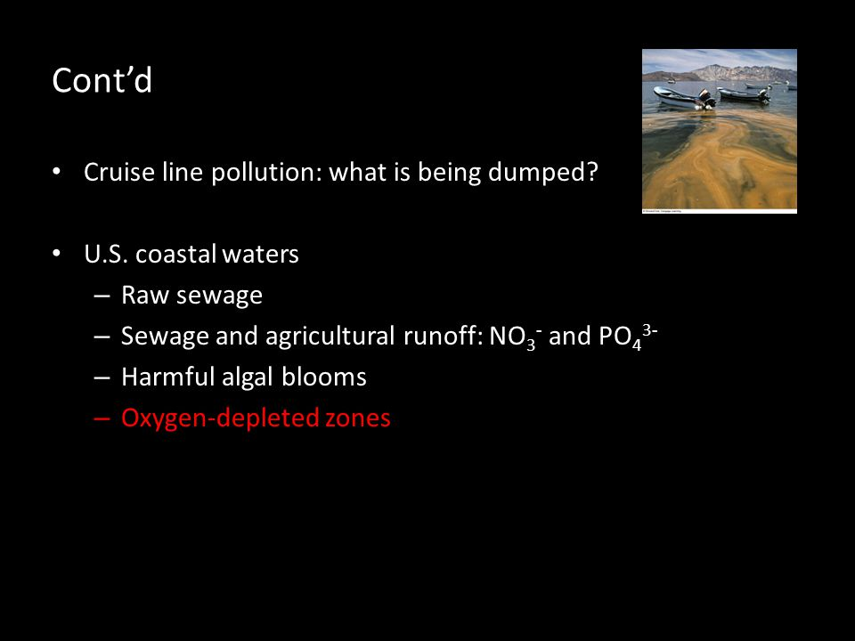 Cont'd Cruise line pollution: what is being dumped