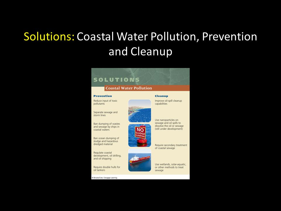 Solutions: Coastal Water Pollution, Prevention and Cleanup