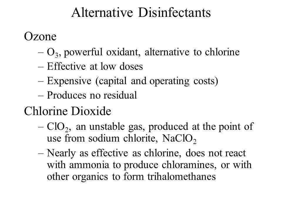 Alternative Disinfectants