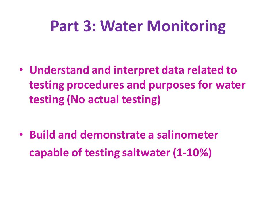 Part 3: Water Monitoring