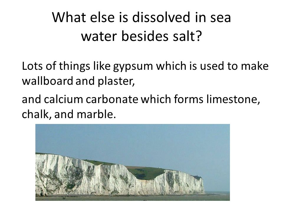 What else is dissolved in sea water besides salt
