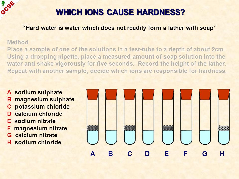 WHICH IONS CAUSE HARDNESS