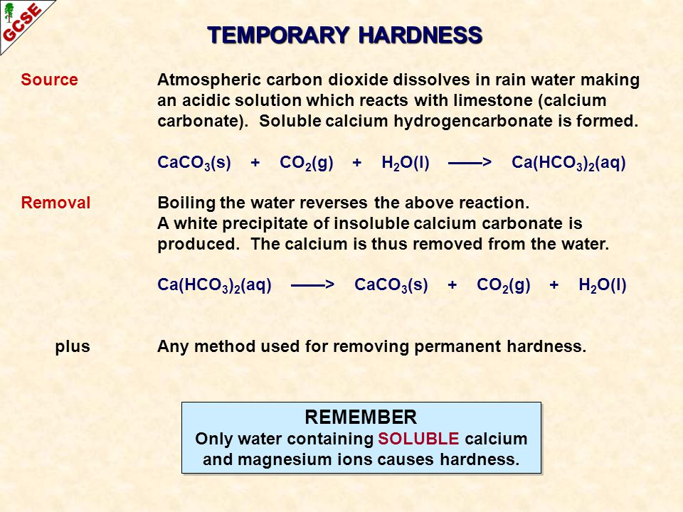 TEMPORARY HARDNESS REMEMBER