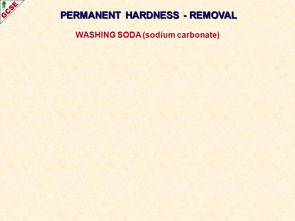 PERMANENT HARDNESS - REMOVAL WASHING SODA (sodium carbonate)