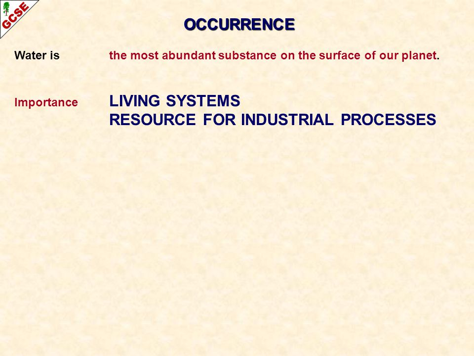 RESOURCE FOR INDUSTRIAL PROCESSES
