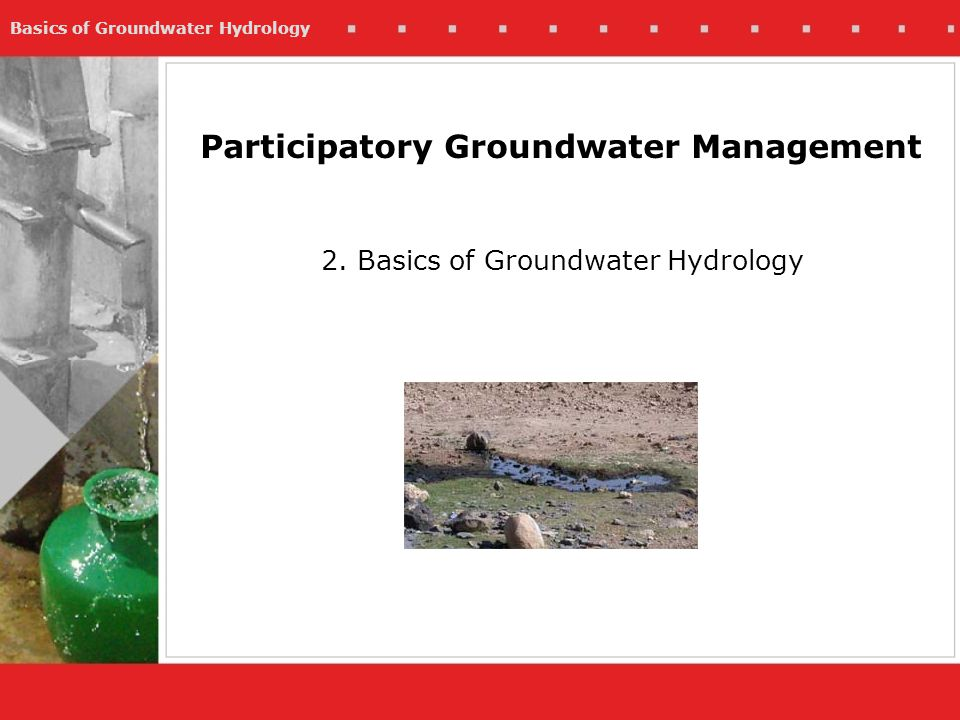 Participatory Groundwater Management