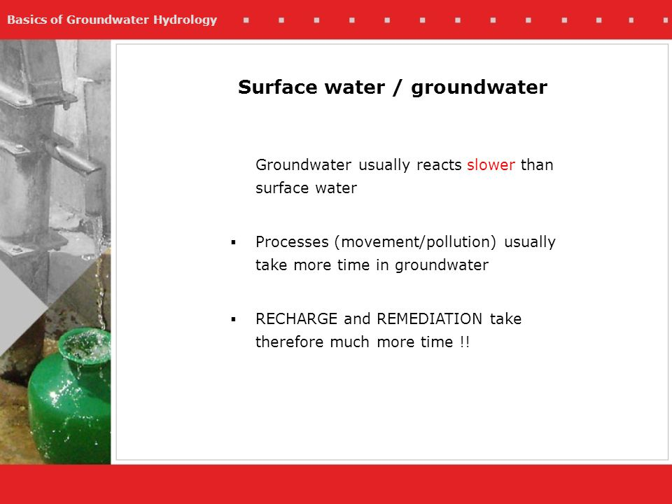 Surface water / groundwater