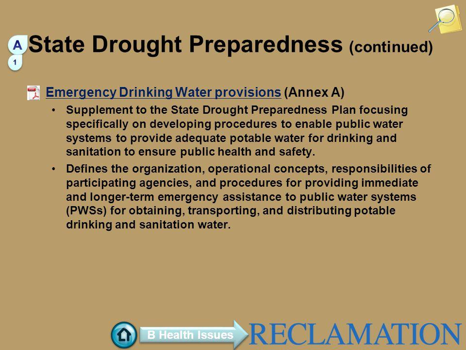 State Drought Preparedness (continued)