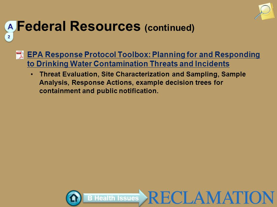 Federal Resources (continued)