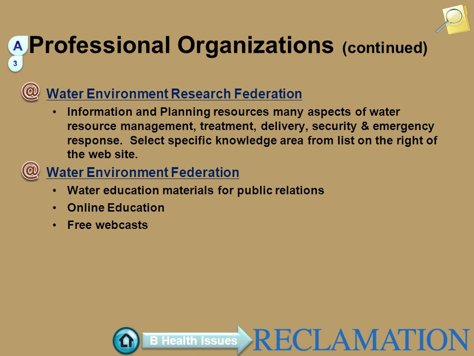 Professional Organizations (continued)