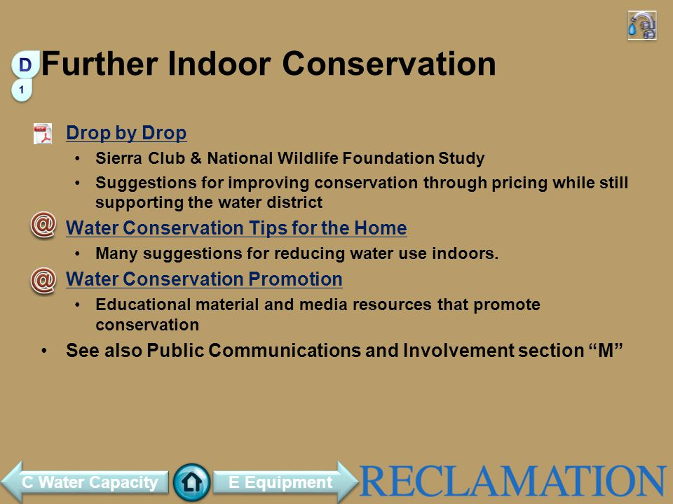 Further Indoor Conservation
