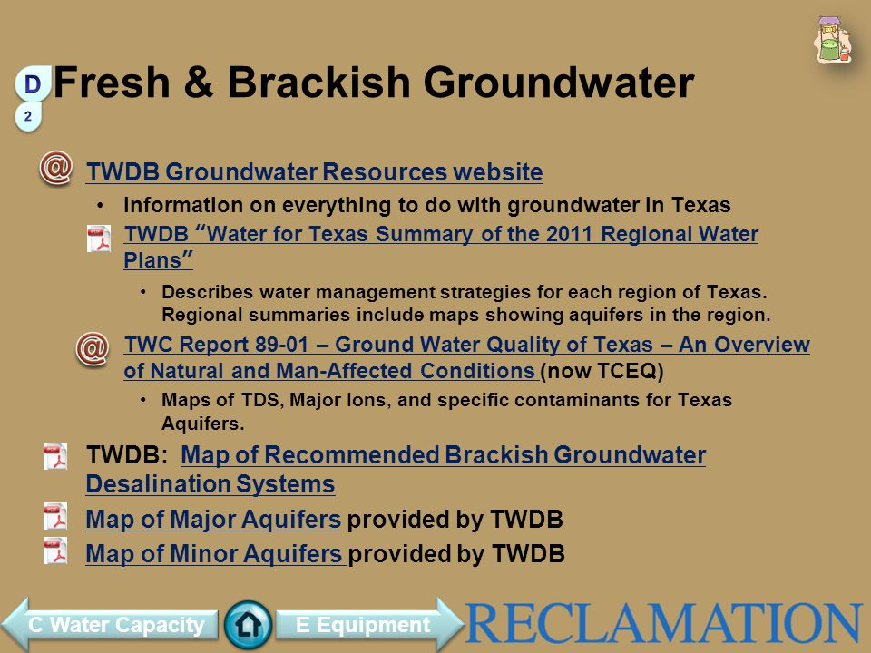 Fresh & Brackish Groundwater