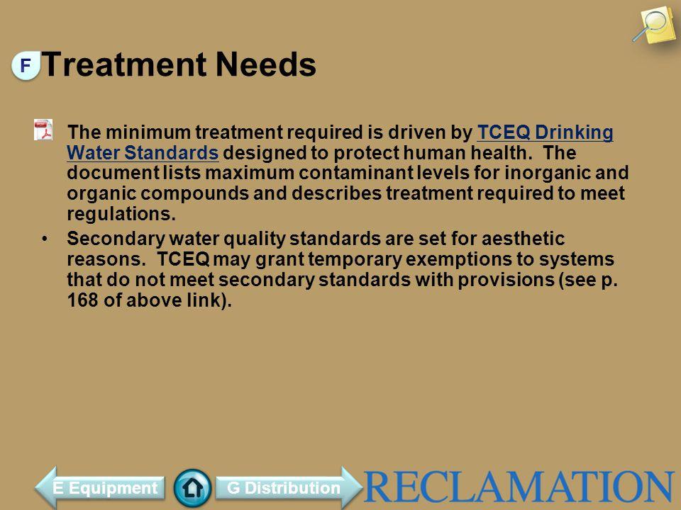 Treatment Needs F.