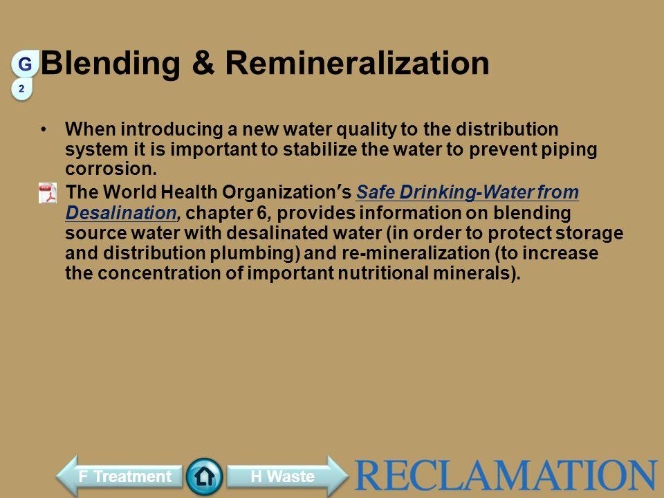 Blending & Remineralization