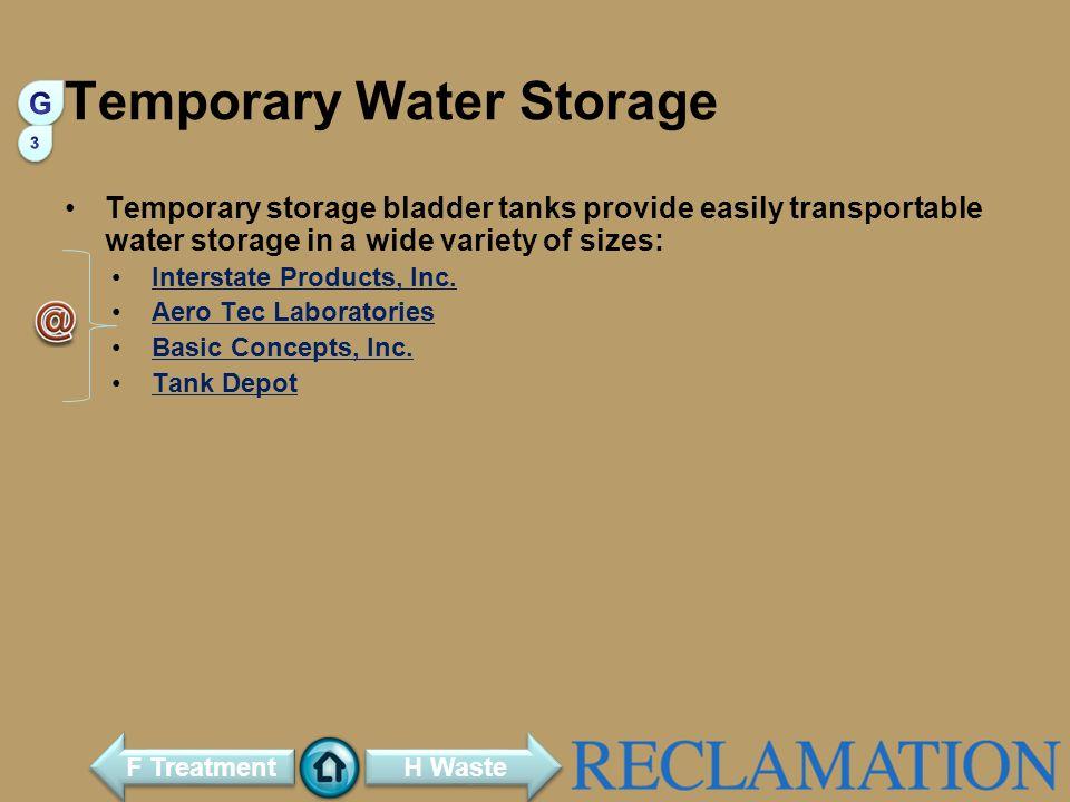 Temporary Water Storage